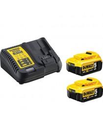 Зарядное устройство с двумя аккумуляторами DeWALT DCB115P2 / В комплекте 2 аккумулятора 18 В XR Li-Ion 5, 0 Ah фото