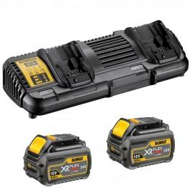 Зарядное устройство XR FLEXVOLT DeWALT DCB132T2 / 2 Аккумулятора 6 Аh (18 В) / 2 Аh ( 54 В ) DCB546
