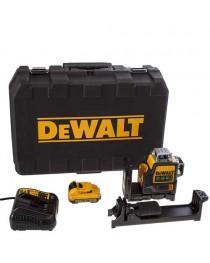 Лазерный нивелир (уровень) аккумуляторный DeWalt DCE089D1G / Зелёный луч