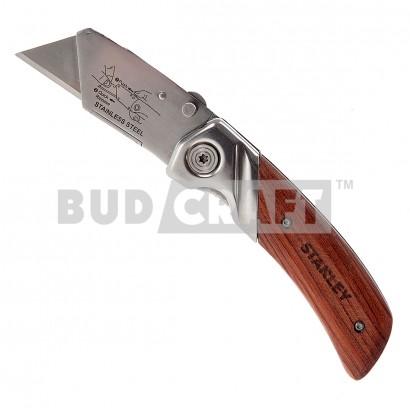 Нож складной с деревянной рукояткой Stanley / 19 мм