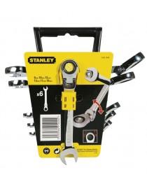 Набор гаечных ключей с храповым механизмом на шарнире Stanley / 6 единиц / 4-91-444 фото