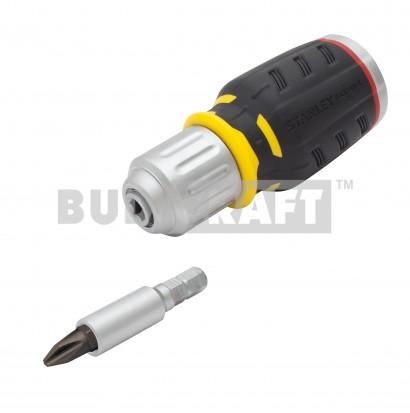 Отвертка с храповым механизмом Stanley FatMax® Stubby FMHT0-62688 / В комплекте битодержатель и 6 насадок фото