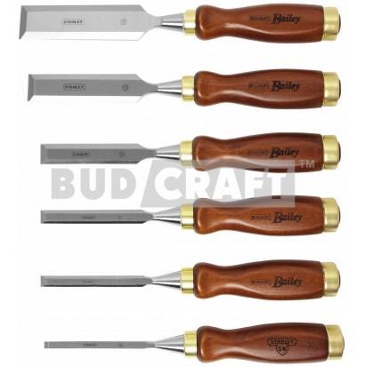 Набор из 6-и стамесок с деревянной рукояткой Stanley BAILEY 1-16-416