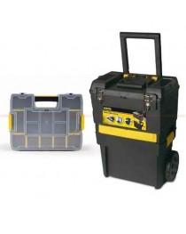 Тележка инструментальная (ящик для инструментов) на колесах с органайзером Stanley Rolling Workshop STST1-71187 / 470 x 297 x 620 мм фото
