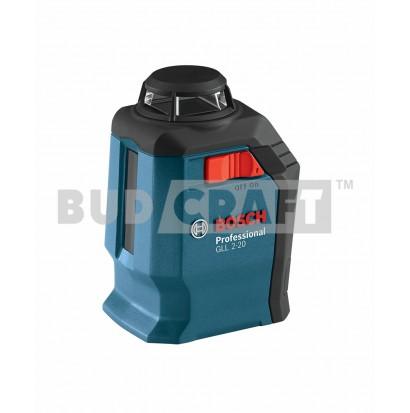Лазерный нивелир (уровень) Bosch GLL 2-20 Professional / В комплекте с кронштейном BM3 / 0601063J00 фото