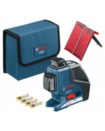Лазерный нивелир (уровень) Bosch GLL 3-80 (AA) Professional / 0601063S00 / В кейсе фото