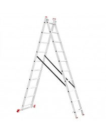 Универсальная лестница Intertool LT-0210 / 2 х 10 / 4, 8 м фото