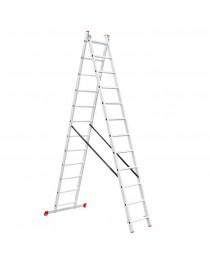 Универсальная лестница Intertool LT-0212 / 2 х 12 / 5, 9 м фото