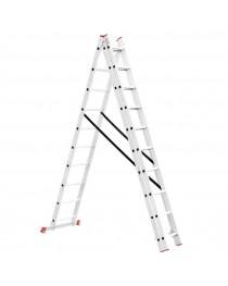 Универсальная лестница Intertool LT-0310 / 3 х 10 / 6, 78 м фото