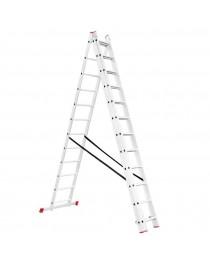 Универсальная лестница Intertool LT-0312 / 3 х 12 / 7, 9 м фото