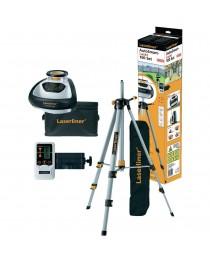 Лазерный нивелир (уровень) ротационный Laserliner AutoSmart Laser 100 SET / В комплекте с приемником и штативом 1,5 м