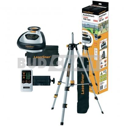 Лазерный нивелир (уровень) ротационный Laserliner AutoSmart Laser 100 SET / В комплекте с приемником и штативом 1, 5 м фото