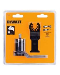 Адаптер насадок DeWalt c двумя погружными полотнами по дереву (DT20701 и DT20704) для многофункциональных инструментов Bosch, Makita фото