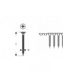 Набор шурупов, лента, Bosch 32мм S-G 3, 9x25мм (1000шт) фото