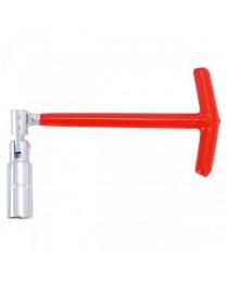 Ключ свечной Т-образный с шарниром Intertool HT-1717, 16х250мм фото
