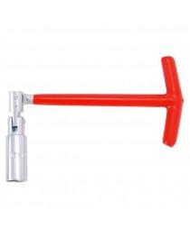 Ключ свечной Т-образный с шарниром Intertool HT-1722, 21х250мм фото