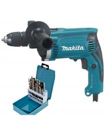 Дрель ударная Makita HP1641K + набор D-46202 фото