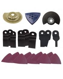 Набор аксессуаров для мультиинструмента Intertool DT-0526 (21 ед ) фото