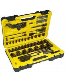 Набор инструмента Stanley Tech 3 универсальный, в пластиковом кейсе (78ед) фото