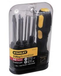 Отвертка Stanley Multifunctional 0-62-511 / В комплекте 9 вставок-стержней фото