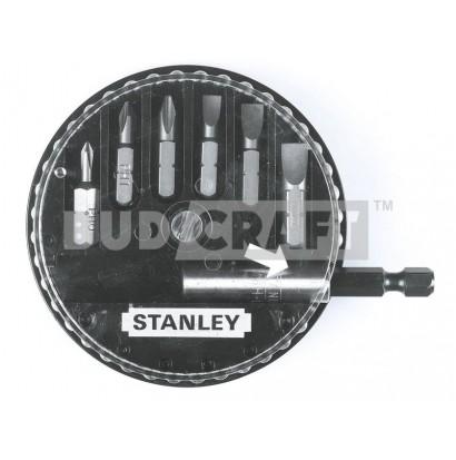 Набор вставок с магнитным держателем Stanley (6шт)