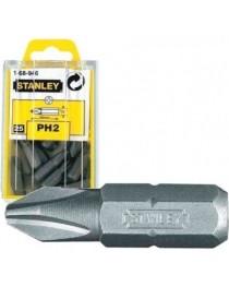 """Набор вставок Stanley с шестигранным хвостовиком 1/4 """"под шлиц Phillips Pz2-25мм (3шт) фото"""