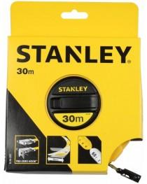 Рулетка 30 метров с лентой из стекловолокна Stanley LongTape 0-34-297 / Ширина ленты 12,7 мм фото