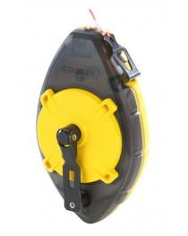 Шнур разметочный (трассер) Stanley PowerWinder 0-47-465 / В комплекте с подвесным уровнем и меловым порошком 45 г
