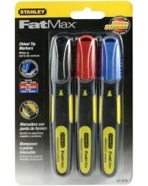 Набор маркеров Stanley FatMax (черный, красный, синий) (3шт) фото