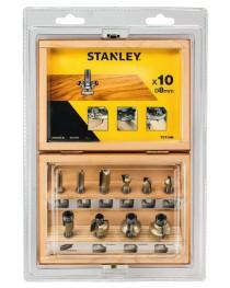 Набор фрез Stanley TCT 8мм, 10шт (STA80020) фото