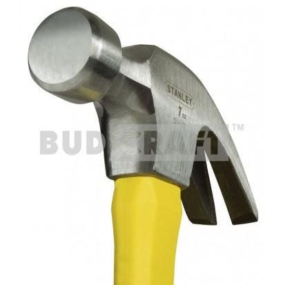 Молоток с гвоздодером Stanley Yellow Fibreglass Curve Claw, загнут., 200г фото