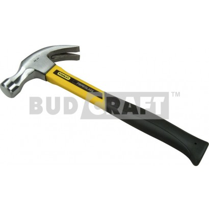 Молоток с гвоздодером Stanley Yellow Fibreglass Curve Claw, загнут., 570г