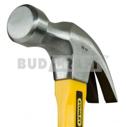 Молоток с гвоздодером Stanley Yellow Fibreglass Curve Claw, загнут., 570г фото