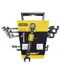 Набор ключей комбинированных с трещоткой Stanley MaxiDrive Plus (6шт) фото
