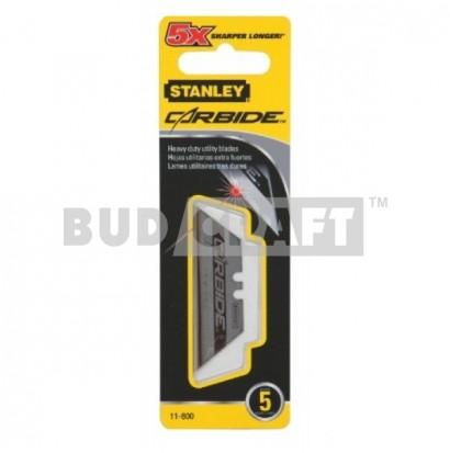 Набор лезвий для ножа Stanley Carbide 62x19х0,6мм повышеной прочности (5шт)